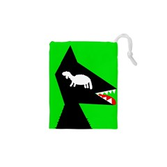 Wolf and sheep Drawstring Pouches (XS)