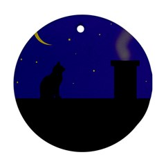 Cat on the roof  Ornament (Round)