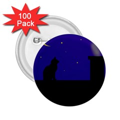Cat on the roof  2.25  Buttons (100 pack)