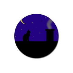 Cat on the roof  Magnet 3  (Round)