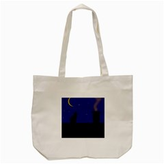Cat On The Roof  Tote Bag (cream)