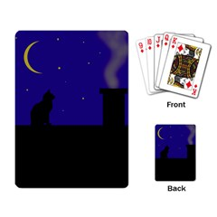 Cat on the roof  Playing Card