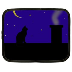Cat on the roof  Netbook Case (Large)