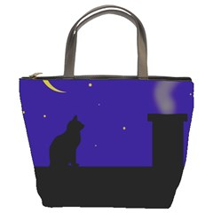 Cat on the roof  Bucket Bags