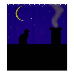 Cat on the roof  Shower Curtain 66  x 72  (Large)