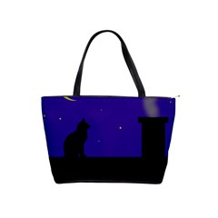 Cat on the roof  Shoulder Handbags