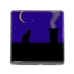 Cat on the roof  Memory Card Reader (Square)