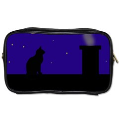 Cat on the roof  Toiletries Bags 2-Side