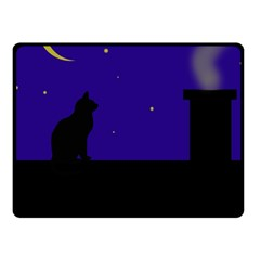 Cat on the roof  Fleece Blanket (Small)