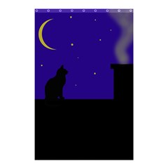 Cat on the roof  Shower Curtain 48  x 72  (Small)