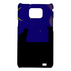 Cat on the roof  Samsung Galaxy S2 i9100 Hardshell Case