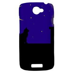 Cat on the roof  HTC One S Hardshell Case