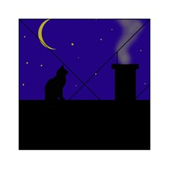 Cat on the roof  Acrylic Tangram Puzzle (6  x 6 )