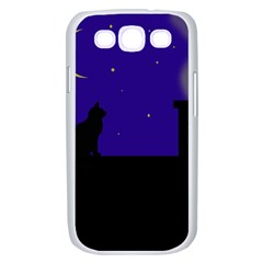 Cat on the roof  Samsung Galaxy S III Case (White)