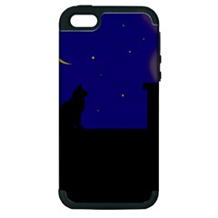 Cat on the roof  Apple iPhone 5 Hardshell Case (PC+Silicone)