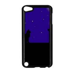Cat on the roof  Apple iPod Touch 5 Case (Black)