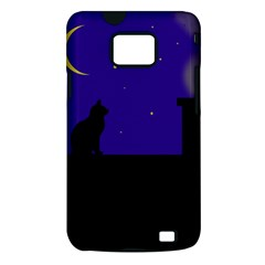 Cat on the roof  Samsung Galaxy S II i9100 Hardshell Case (PC+Silicone)