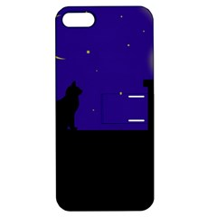 Cat on the roof  Apple iPhone 5 Hardshell Case with Stand