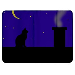 Cat on the roof  Samsung Galaxy Tab 7  P1000 Flip Case