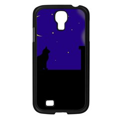 Cat on the roof  Samsung Galaxy S4 I9500/ I9505 Case (Black)