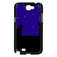 Cat on the roof  Samsung Galaxy Note 2 Case (Black)