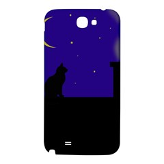 Cat on the roof  Samsung Note 2 N7100 Hardshell Back Case