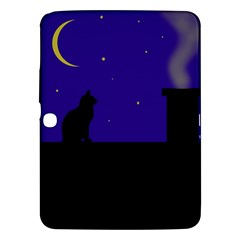 Cat on the roof  Samsung Galaxy Tab 3 (10.1 ) P5200 Hardshell Case