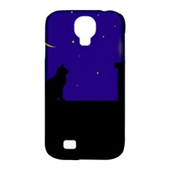 Cat on the roof  Samsung Galaxy S4 Classic Hardshell Case (PC+Silicone)