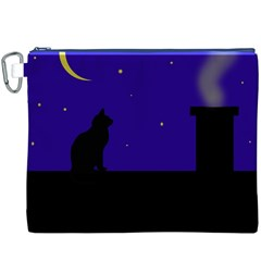 Cat on the roof  Canvas Cosmetic Bag (XXXL)