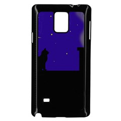 Cat on the roof  Samsung Galaxy Note 4 Case (Black)