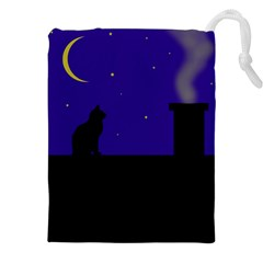 Cat on the roof  Drawstring Pouches (XXL)