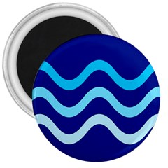 Blue Waves  3  Magnets
