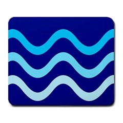 Blue waves  Large Mousepads