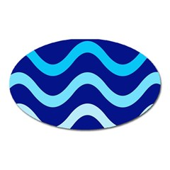 Blue Waves  Oval Magnet
