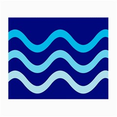 Blue waves  Small Glasses Cloth (2-Side)