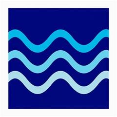 Blue waves  Medium Glasses Cloth