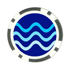 Blue waves  Poker Chip Card Guards
