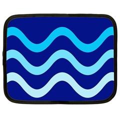 Blue waves  Netbook Case (Large)