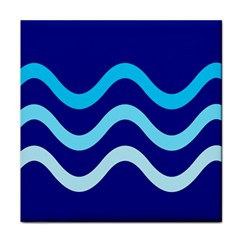 Blue waves  Face Towel