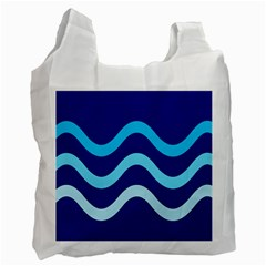 Blue waves  Recycle Bag (Two Side)