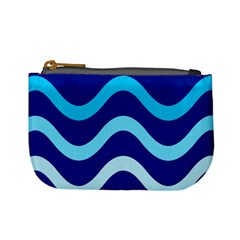 Blue waves  Mini Coin Purses