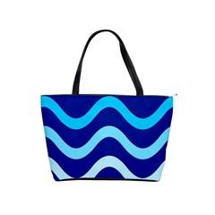 Blue waves  Shoulder Handbags