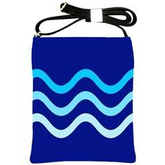 Blue waves  Shoulder Sling Bags