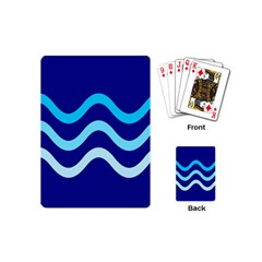 Blue waves  Playing Cards (Mini)