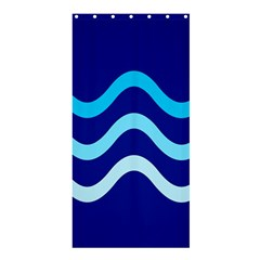 Blue waves  Shower Curtain 36  x 72  (Stall)