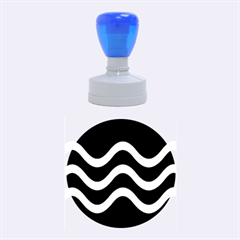 Blue waves  Rubber Round Stamps (Medium)
