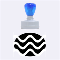 Blue waves  Rubber Oval Stamps