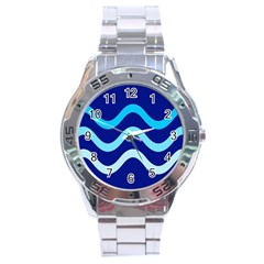 Blue waves  Stainless Steel Analogue Watch
