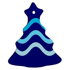 Blue Waves  Ornament (christmas Tree)