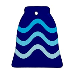 Blue waves  Ornament (Bell)